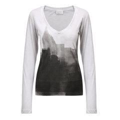 DIESEL/迪赛女士T恤-女士浅灰印花T恤 材质:100棉图片