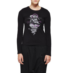 D-MOP Blues Heroes/Blues Heroes 秋季新款 女士印花长袖T恤 潮流针织T恤 女士T恤图片