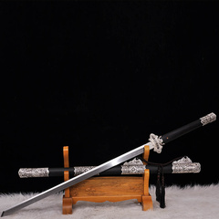 Zhou Shi/周氏 龙泉剑非物质文化遗产 豪华镀银唐刀图片