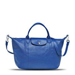 Longchamp/珑骧羊皮 LE PLIAGE CUIR 女士折叠式经典饺子包/单肩包/手提包 1512 图片