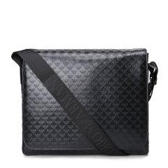Emporio Armani/安普里奥阿玛尼单肩包-男士黑色包 材质:牛皮图片