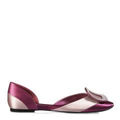 【指定款满减】Roger Vivier/罗杰·维维亚 女士枚红色牛皮芭蕾舞鞋图片