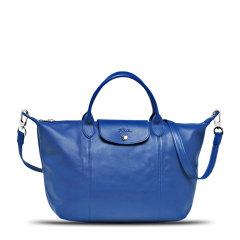 Longchamp/珑骧羊皮 LE PLIAGE CUIR 女士折叠式经典饺子包/单肩包/手提包 1515 图片