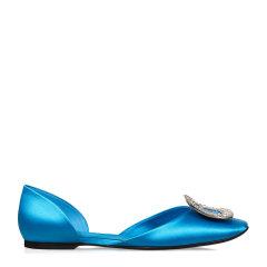 Roger Vivier/罗杰·维维亚女士 女鞋 平跟鞋平跟鞋Chips水钻丝缎芭蕾舞鞋图片