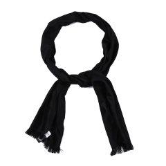 【可用劵】ARMANI COLLEZIONI/阿玛尼卡尔兹丝巾-男士黑色丝巾图片