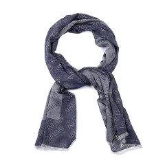 ARMANI COLLEZIONI/阿玛尼卡尔兹围巾-男士灰蓝拼接围巾图片
