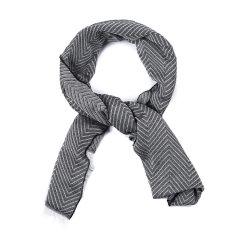 ARMANI COLLEZIONI/阿玛尼卡尔兹围巾-男士灰黑条纹围巾图片