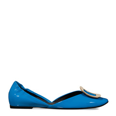 【指定款满减】Roger Vivier/罗杰·维维亚 女士蓝色真皮芭蕾舞鞋图片