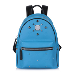 MCM/MCMMCM女士mini号铆钉蓝色双肩包 背包MMK6SVH45图片