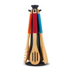 Joseph joseph/Joseph joseph 木质旋转木马 炒勺煎铲烹饪厨具套装图片