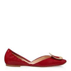 Roger Vivier/罗杰·维维亚 女士 女鞋 平跟鞋蓝色真皮芭蕾舞鞋图片
