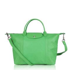 Longchamp/珑骧 LE PLIAGE CUIR 女士中号羊皮折叠式经典饺子包/单肩包/手提包 1515图片