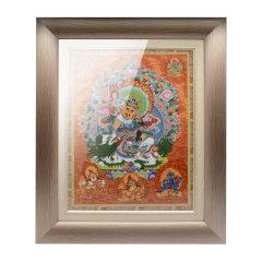 goldentara/金色度母瓷板唐卡财宝天王 58cm*48cm图片