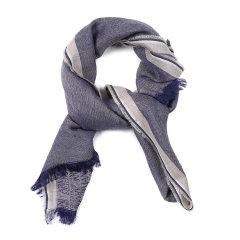 ARMANI COLLEZIONI/阿玛尼卡尔兹围巾-男士蓝色印花围巾图片