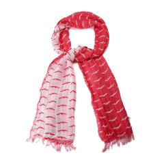 ARMANI JEANS/阿玛尼牛仔围巾-男士牛仔系列红色围巾图片