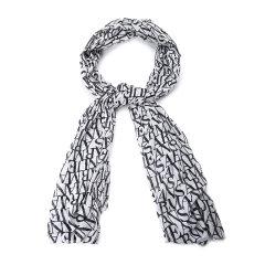 ARMANI JEANS/阿玛尼牛仔围巾-男士牛仔系列蓝色围巾图片