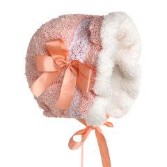 Hanakimi英国品牌 女童羊羔绒保暖Bonnet宫廷欧风帽KM050图片