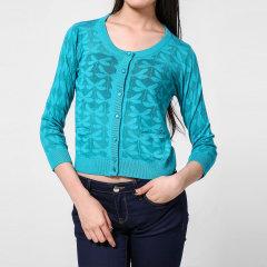 ARANI JEANS/阿玛尼牛仔女针织衫-女士牛仔系列蓝粘纤休闲针织衫图片