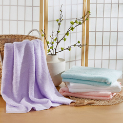Uchino/内野 单条装轻薄柔软无捻纱棉花糖浴巾 粉色图片