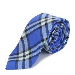 BURBERRY/博柏利 纯棉蓝色格纹男士领带 手系 配饰 80018001