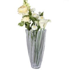 BOHEMIA Crystal捷克进口水晶玻璃透明台面欧式家居装饰花瓶花艺花瓣款式礼品摆件图片