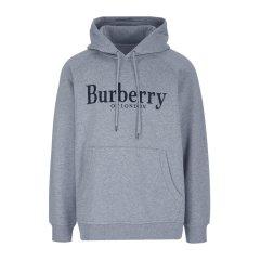 BURBERRY/博柏利 logo刺绣棉质连帽男女同款卫衣#图片