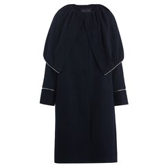 TRACY CHU/TRACY CHU朱熙越设计师WRAM系列黑色大帽领女士外套女士大衣图片
