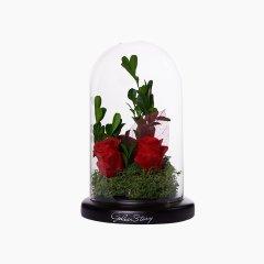 GeleiStory/GeleiStory永生花系列玻璃罩之圣洁的爱伴手礼 送闺蜜 生日礼物 情人节礼物  陪伴 蓝  年货节 店铺特惠图片