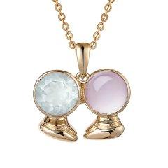 ENZO/ENZO 十二星座 彩宝 宝石 9K金 宝石吊坠(多款可选)挂坠(不含链)  双鱼座图片