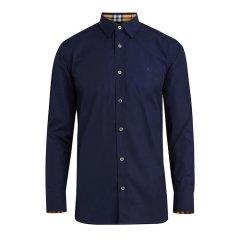BURBERRY/博柏利 巴宝莉男士衬衫 黑色棉质纯色长袖 经典内领格纹衬衣 多色可选 8003074图片