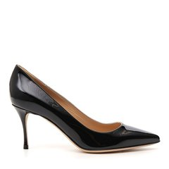 Sergio Rossi/塞乔·罗西 19年春夏 logo 亮面 女性 尖头鞋 细跟 晚宴 性感 优雅 高跟鞋 A43841MVIV01图片