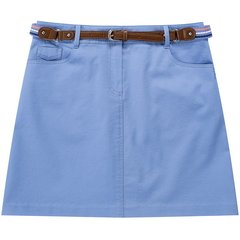 HAZZYS/哈吉斯 2018夏装新款短裙女经典时尚百搭H廓型女士半身裙ABQST08BT01图片