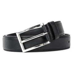 PRADA/普拉达 男士 男式 真皮 十字压纹 腰带 皮带  2CC001 PN9 F0216 黑色 100cm图片