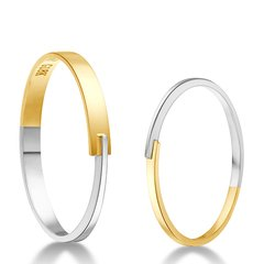 ZIGGY/芝一格 至金系列-至金极细对戒 情侣对戒 礼物 18K金 戒指图片