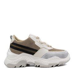【18秋冬】Sze/Sze 牛皮 女士超轻厚底时尚撞色老爹鞋 休闲运动鞋 238S060图片