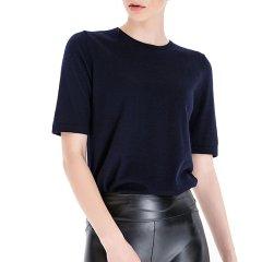 Zynni Cashmere/臻尼羊绒女士针织衫/毛衣精纺纯羊绒薄款短袖衫 SJ9077图片