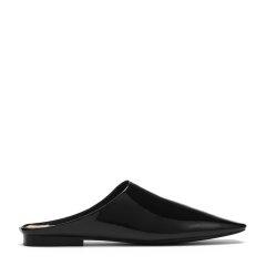 BENATIVE/本那2018春夏新品 时尚舒适软漆皮平跟拖鞋 纯色女士凉鞋BN01811022图片
