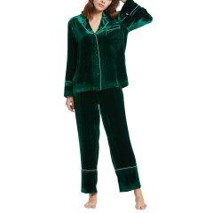 [品牌:LILYSILK/莉莉秀客,分类:女睡衣/家居服]真丝睡衣丝绒家居套装外穿2239图片