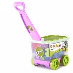 瑞士Oops大颗粒塑料积木 手拉车玩具 益智拼插 多功能玩具收纳箱图片