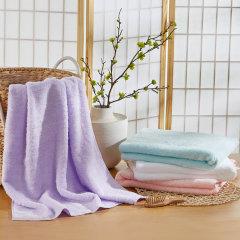 Uchino/内野 单条装轻薄柔软无捻纱棉花糖浴巾 白色图片