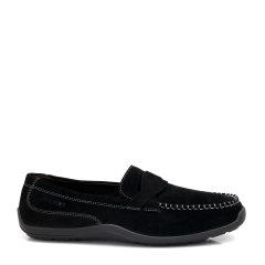 COZY STEPS/COZY STEPS 牛皮舒适豆豆鞋男士休闲鞋 黑色 39图片