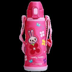 ZOJIRUSHI/象印儿童吸管杯子儿童水壶不锈钢保温杯保冷水杯带杯套520m SD-CAE50图片