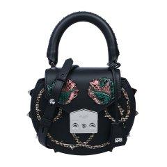 SALAR/Salar Milano 女士牛皮刺绣铆钉装饰手提包单肩包斜挎包女包 多色可选图片