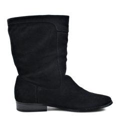 【免税】Calvin Klein/卡尔文·克莱因女鞋  秋冬CK英伦简约中筒纯色靴高帮靴  短靴 34E0899图片