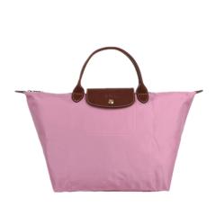Longchamp/珑骧 女款Le Pliage系列女士浆果紫色尼龙短柄中号折叠手提包1623图片