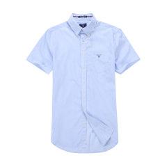GANT/甘特 男士2017夏季新品简约净色纯棉短袖衬衫 男士短袖衬衫 371011图片