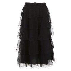 Valentino/华伦天奴 18年秋冬 高腰 女士 蛋糕裙 甜美 黑色 女士半身裙 QR0RA03E43M 0NO图片