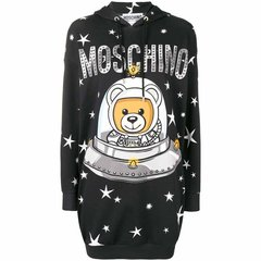 MOSCHINO/莫斯奇诺  长款卫衣款连衣裙 印花带帽兜 三色可选图片