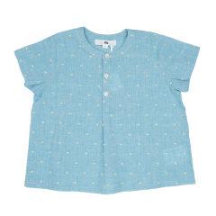 【18春夏】nucollection男童棉短袖T恤上衣 白色/蓝色图片