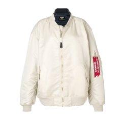 【Designer Menwear】【18春夏】 VETEMENTS/VETEMENTS 男士夹克 聚酰胺 时尚 印花 米白色 3186图片